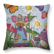 Maddie Mouse Throw Pillow