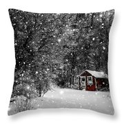Made In Maine Winter  Throw Pillow