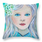 Madelyn Little Angel Of Clear Vision Throw Pillow