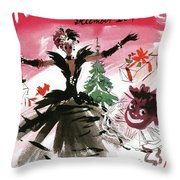 Mademoiselle Cover Featuring A Doll Surrounded Throw Pillow