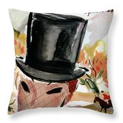 Mademoiselle Cover Featuring A Female Equestrian Throw Pillow