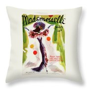 Mademoiselle Cover Featuring A Model Wearing Throw Pillow