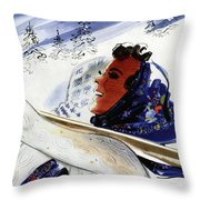 Mademoiselle Cover Featuring An Illustration Throw Pillow