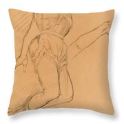 Mademoiselle La La At The Circus Fernando Throw Pillow