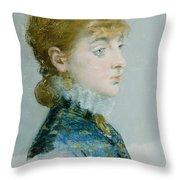 Mademoiselle Lucie Delabigne Throw Pillow
