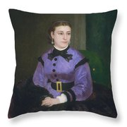 Mademoiselle Sicot Throw Pillow