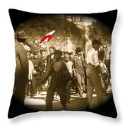 Madero Loyalty March  Mexico City February 9 1911-2013   Throw Pillow