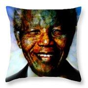 Madiba Father Of Peace And Forgiveness Throw Pillow
