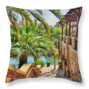 Madinat Jumeirah Souk - Dubai Throw Pillow