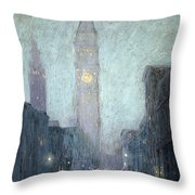 Madison Avenue At Twilight Throw Pillow
