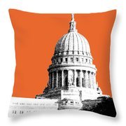 Madison Capital Building - Coral Throw Pillow