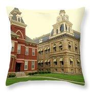 Madison County Ohio Throw Pillow
