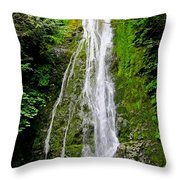 Madison Creek Falls Throw Pillow