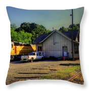 Madison Georgia Historic Train Station Throw Pillow