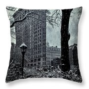 Madison Square And The Flatiron Building Throw Pillow