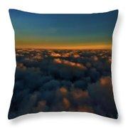 Madison Wi Sunset At 30000 Throw Pillow