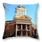 Madison's Morgan County Courthouse Throw Pillow