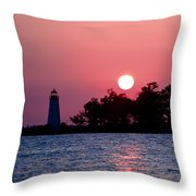 Madisonville Lighthouse Throw Pillow