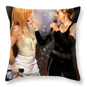 Madonna And Britney Spears  Throw Pillow