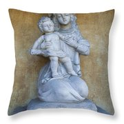Madonna And Child Carmel Mission Monterey California Throw Pillow