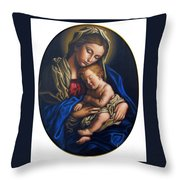 Madonna And Child Throw Pillow by Jane Whiting Chrzanoska