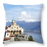 Madonna Del Sasso Throw Pillow