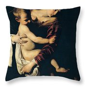 Madonna Di Loreto Throw Pillow by Caravaggio