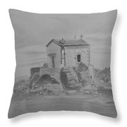 Madonna Mermaid Church Lesbos Throw Pillow