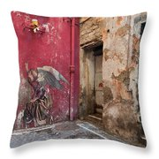Madonna Of The Alley Throw Pillow