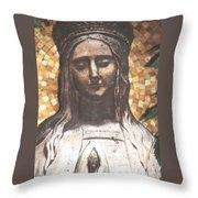 Madonna Praying Throw Pillow