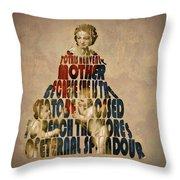 Madonna Typography Artwork Throw Pillow