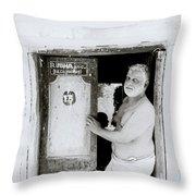 Madras Man Throw Pillow