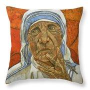 Madre Teresa Di Calcutta Throw Pillow