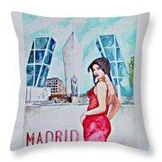 Madrid 2009 Throw Pillow