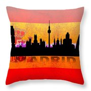 Madrid City Throw Pillow