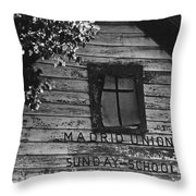 Madrid Union Sunday School Ghost Town Madrid New Mexico 1968-2008 Throw Pillow