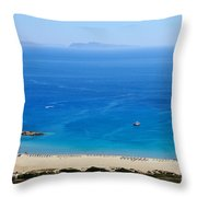 Maganari Beach Throw Pillow