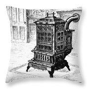 Magazine Stove, 1880 Throw Pillow