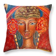 Magdalene Of The Eightfold Path Throw Pillow