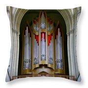 Magdeburg Cathedral Organ Throw Pillow