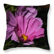 Magenta Cosmos 2 Throw Pillow