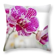 Magenta Ears Orchid Throw Pillow