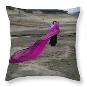 Magenta Madness Throw Pillow