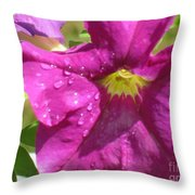 Magenta Majesty Throw Pillow