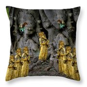 Magic As The Tree People Celebrate Health Throw Pillow