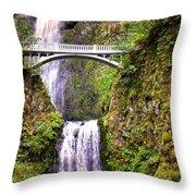 Magic At Multnomah Falls Throw Pillow