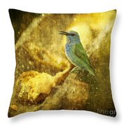 Magic At The Feeder... Throw Pillow