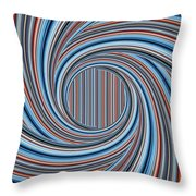 Magic Colorful Abstract Twisted Background Throw Pillow