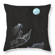 Magic Crow Feather Throw Pillow