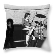 Magic Dick And J. Geils In Oakland 1976 Throw Pillow